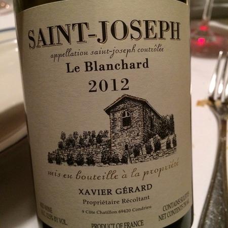 Xavier Gerard Le Blanchard Saint Joseph Syrah 2015