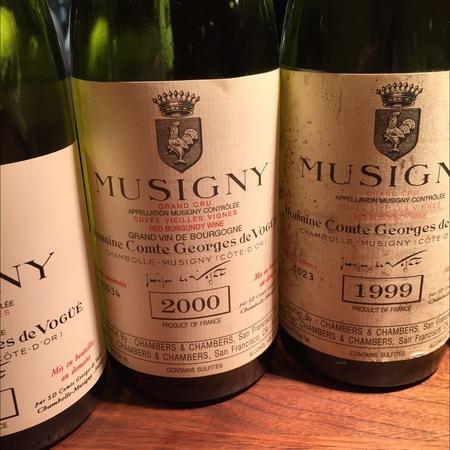 Domaine Comte Georges de Vogüé Cuvée Vieilles Vignes Musigny Grand Cru Pinot Noir 2000