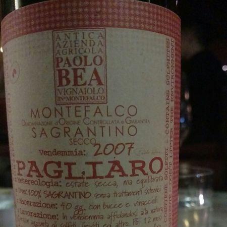 Paolo Bea Pagliaro Secco Montefalco Sagrantino 2009
