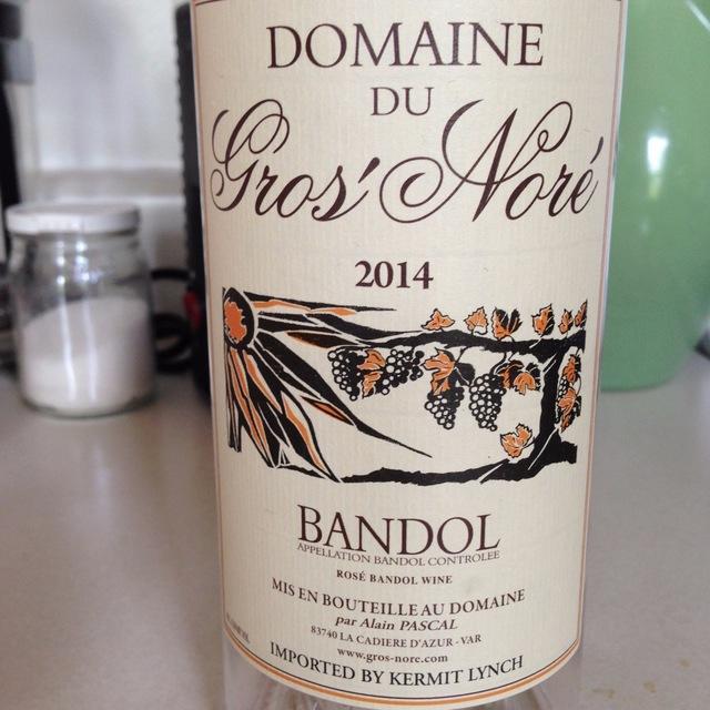 Bandol Rosé Mourvedre Blend 2014