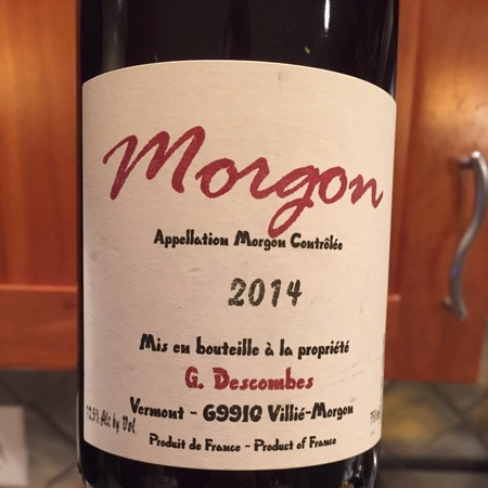 Georges Descombes Morgon Gamay 2014