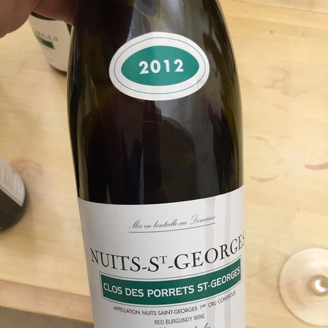 Clos des Porrets St. Georges Nuits St. Georges 1er Cru Pinot Noir 2012