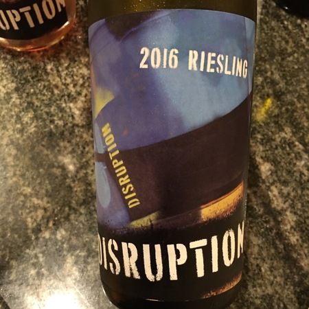 Disruption Wine Company Disruption Riesling  2016