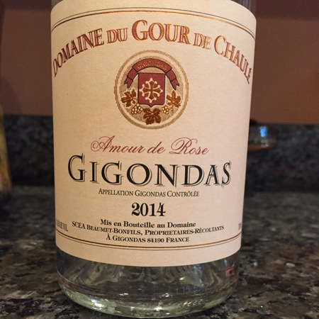Domaine du Gour de Chaulé Amour de Rosé Gigondas Grenache Blend 2016