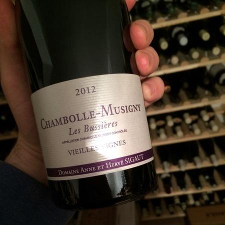 Domaine Anne et Hervé Sigaut Les Bussières Vieilles Vignes Chambolle Musigny Pinot Noir 2012