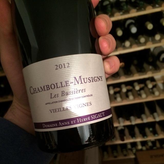 Les Bussières Vieilles Vignes Chambolle Musigny Pinot Noir 2012