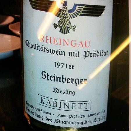 Verwaltung der Staatsweingüter Steinberger Kabinett Riesling 2002