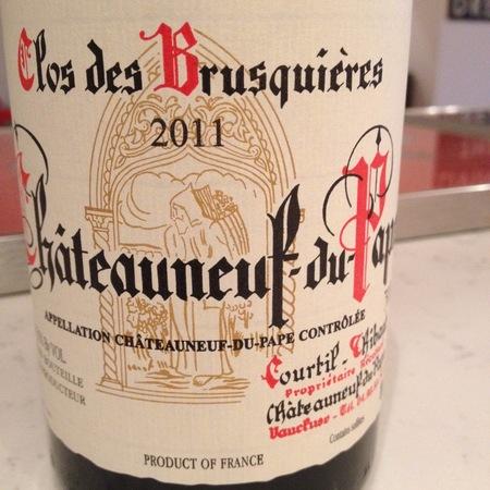 Clos des Brusquières Châteauneuf-du-Pape Red Rhône Blend 2015