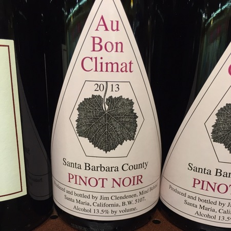 Au Bon Climat Santa Barbara County Pinot Noir 2016
