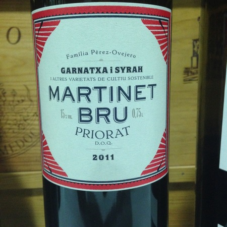 Mas Martinet Martinet Bru Priorat Garnacha Syrah 2015