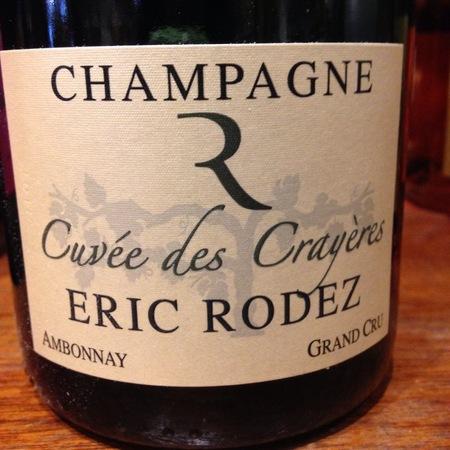 Eric Rodez Cuvée des Crayères Brut Grand Cru Champagne Chardonnay Pinot Noir NV