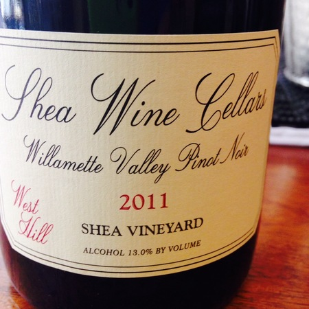 Shea Wine Cellars West Hill Shea Vineyard Pinot Noir 2011