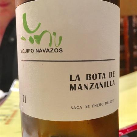 Equipo Navazos La Bota de Manzanilla No 71 Jerez-Xérès-Sherry Palomino Fino NV