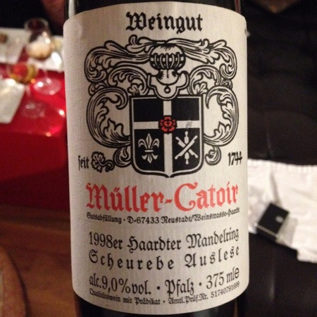 Müller-Catoir Haardter Mandelring Eiswein Scheurebe 1998 (375ml)