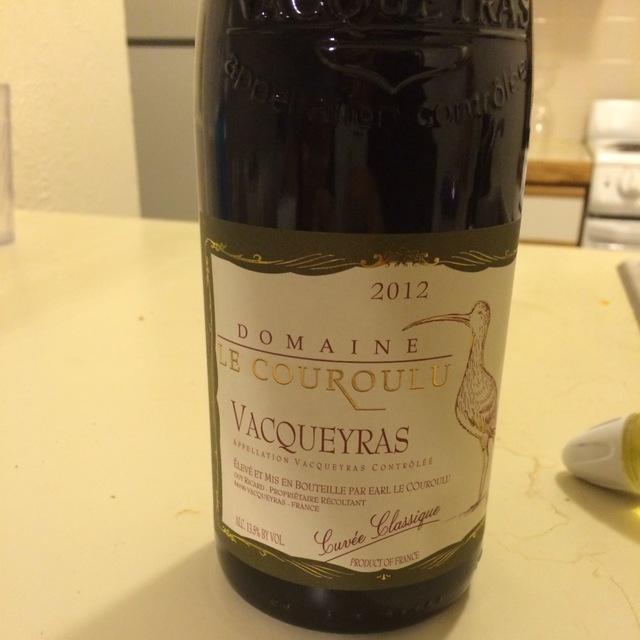 Cuvée Classique Vacqueyras Red Rhone Blend 2012