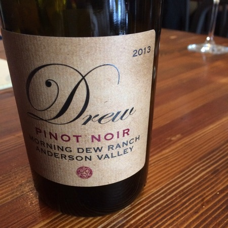 Drew Family Cellars Morning Dew Ranch Anderson Valley Pinot Noir 2015