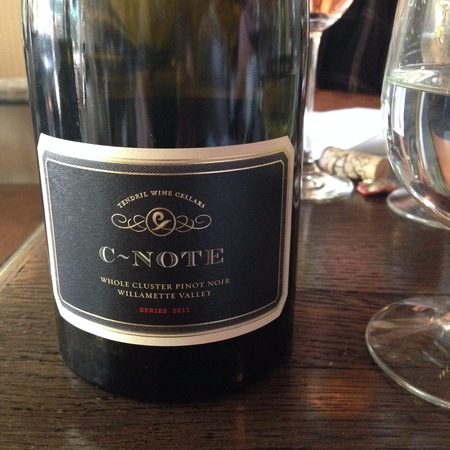 Tendril Wine Cellars C-Note Whole Cluster Willamette Valley Pinot Noir 2012