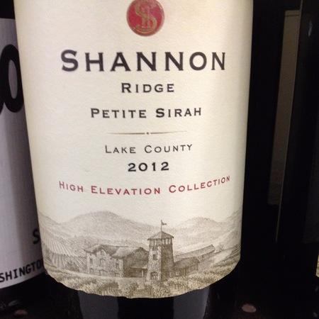 Shannon Ridge Vineyard High Elevation Collection Lake County Petite Sirah NV