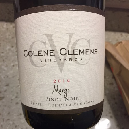 Colene Clemens Vineyards Margo Chehalem Mountains Pinot Noir 2012