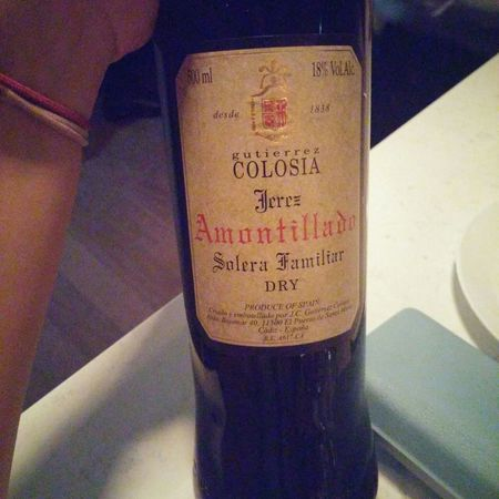 Gutierrez Colosia Amontillado Solera Familiar Palomino Fino NV