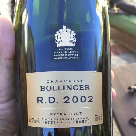 Bollinger R.D. Extra Brut Champagne Blend 2002