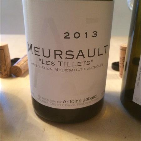 Domaine Antoine Jobard Les Tillets Meursault Chardonnay 2013