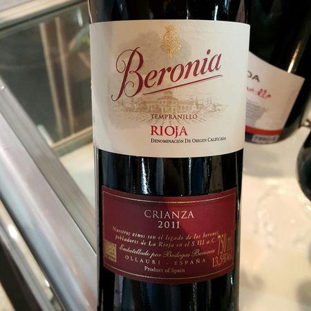 Bodegas Beronia Crianza Rioja Tempranillo 2013