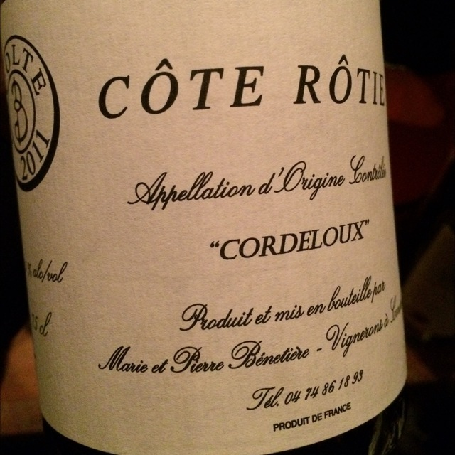 Cordeloux Côte-Rôtie Syrah 2011 (1500ml)