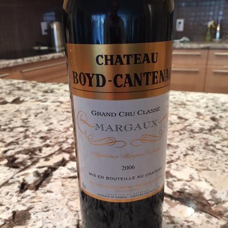 Château Boyd-Cantenac Margaux Red Bordeaux Blend 2006