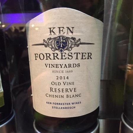Ken Forrester Reserve Ken Forrester Vineyards Old Vine Chenin Blanc 2014