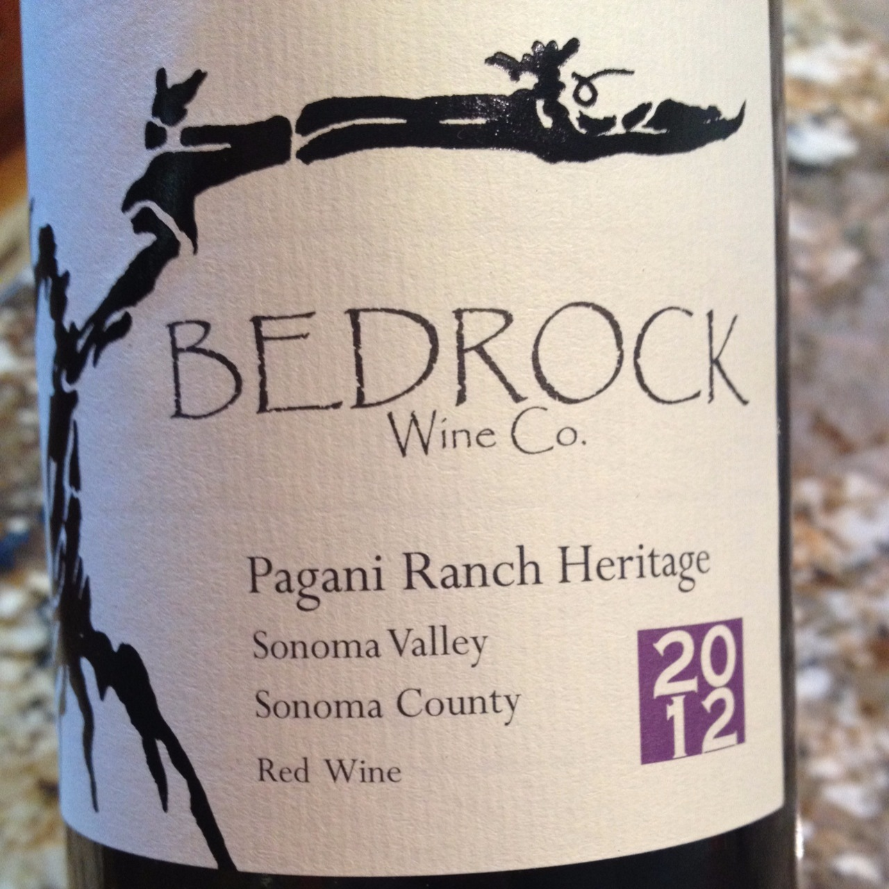 Bedrock Wine Co  Pagani Ranch Heritage Red Blend 2016