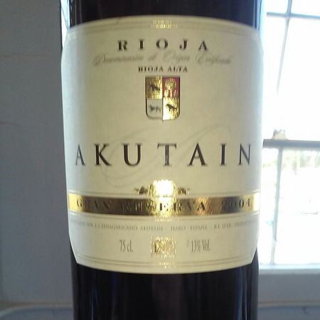 Bodegas Akutain Gran Reserva Rioja Tempranillo Blend 2004
