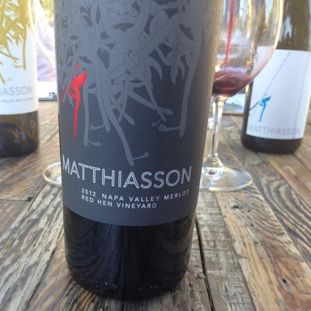 Matthiasson Red Hen Vineyard Merlot 2012