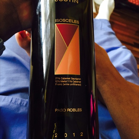 Justin Vineyards & Winery Isosceles Paso Robles Cabernet Sauvignon Blend 2014