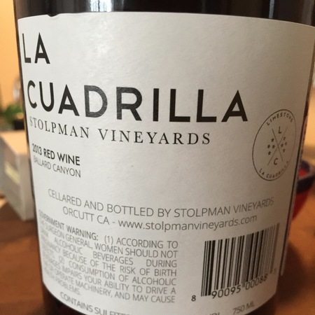 Stolpman Vineyards La Cuadrilla Red Blend 2015