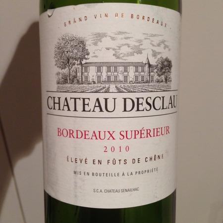 Château Desclau Bordeaux Supérieur Red Bordeaux Blend 2010