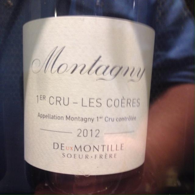 Les Coères Montagny 1er Cru Chardonnay 2012