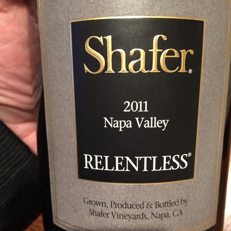 Shafer Relentless Napa Valley Syrah Petite Sirah 2014