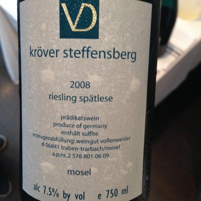 Kröver Steffensberg Spätlese Riesling 2008