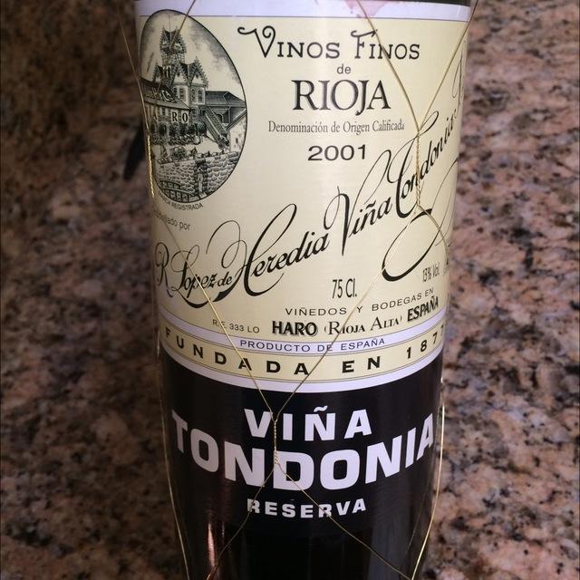 Viña Tondonia Reserva Rioja Tempranillo Blend 2001