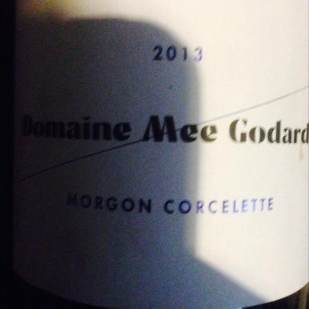 Domaine Mee Godard Morgon Corcelette Gamay 2014
