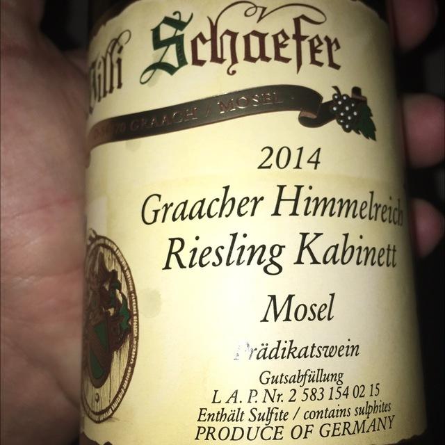 Graacher Himmelreich Kabinett Riesling 2014