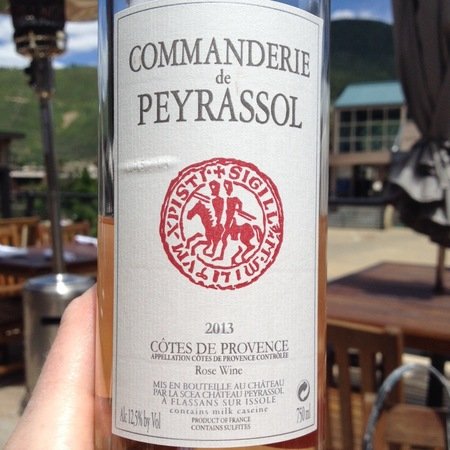 Peyrassol Commanderie de Peyrassol Côtes de Provence Rosé Blend 2016