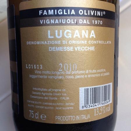 Famiglia Olivini Demesse Vecchie Lugana Trebbiano 2015
