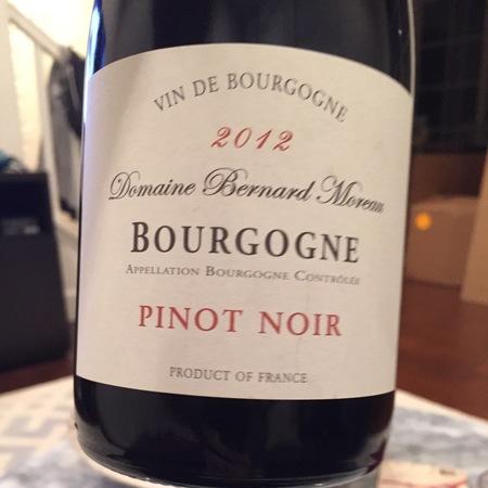 Domaine Bernard Moreau & Fils Bourgogne Pinot Noir 2014