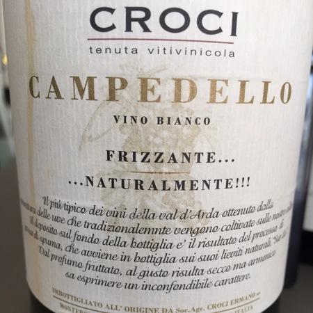 Soc. Agr. Croci Ermanos Campedello Frizzante  2014