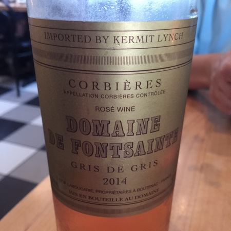 Domaine de Fontsainte Gris de Gris Corbières Rosé Grenache Gris 2015