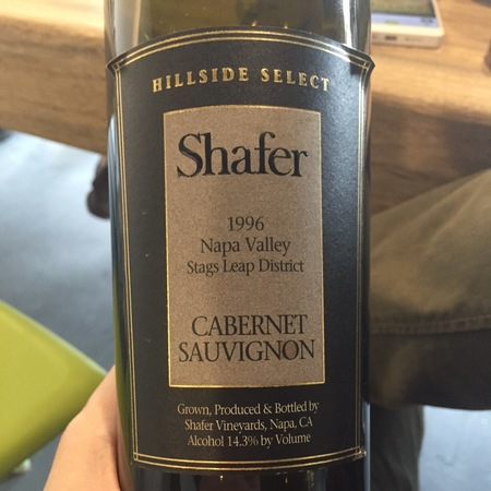 Shafer Hillside Select Stags Leap District Cabernet Sauvignon 1996