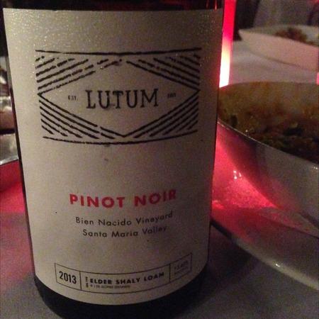Lutum Bien Nacido Vineyard Pinot Noir 2013