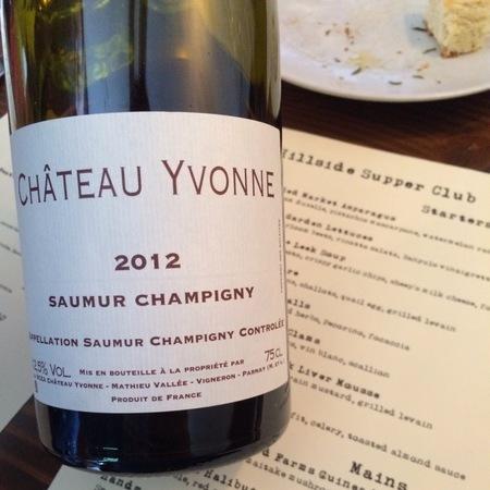 Château Yvonne Saumur Champigny Cabernet Franc 2014